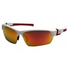 Red Mirror Polarized Lens with White and Red Frame