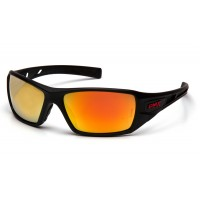 Ice Orange Mirror Lens with Black and Red Frame