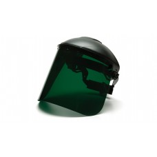 Dark Green Tinted Polyethylene Face Shield
