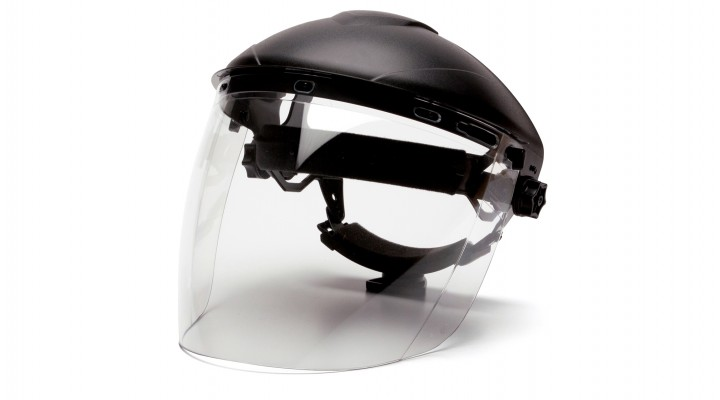 Tapered Polycarbonate Face Shield
