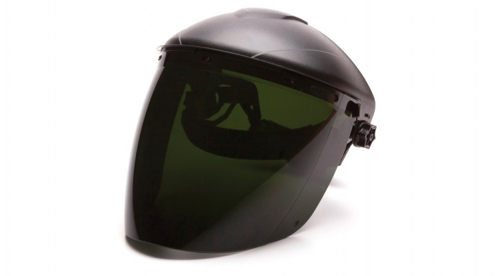 Tapered IR5 Polycarbonate Face Shield