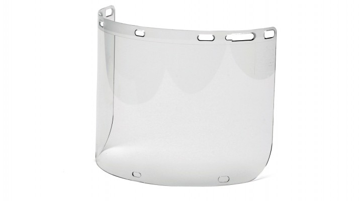 Cylinder Polycarbonate Face Shield with slots for chin cup