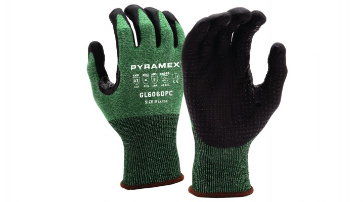 Micro-Foam Nitrile Gloves with Dotted Palms (GL601 Series)
