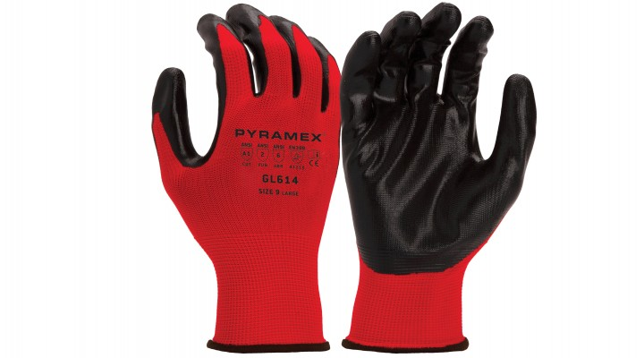 Polyester Nitrile Smooth Gloves (GL614 Series)