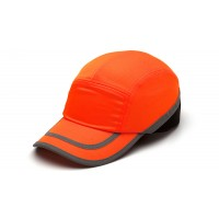 Hi Vis Orange Baseball Bump Cap