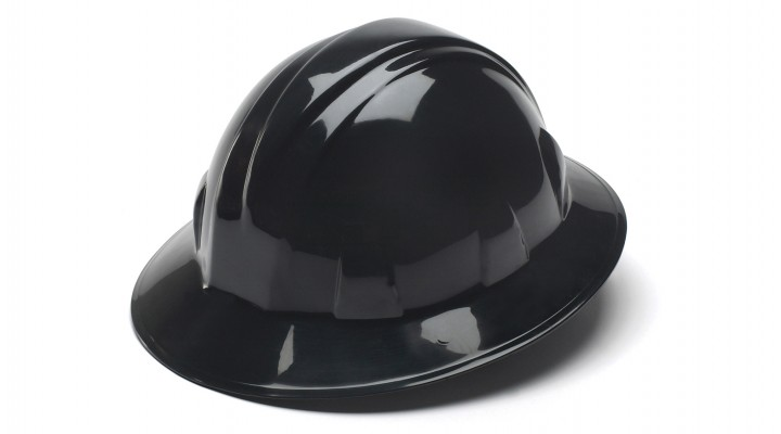 Black Full Brim Style 4-Point Ratchet