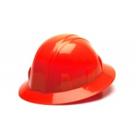 Hi Vis Orange Full Brim Style 4-Point Ratchet