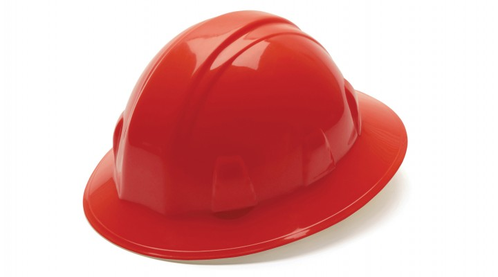 Red Full Brim Style 6-Point Ratchet