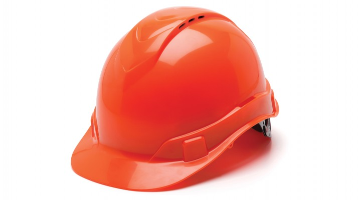 Hi Vis Orange Cap Style 4-Point Vented Ratchet