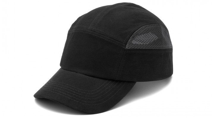 Black & Gray 5cm Peak Bump Cap