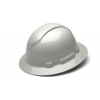 Shiny White Graphite Pattern Full Brim Style 4-Point Standard Ratchet