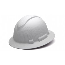 Matte White Graphite Pattern Full Brim Style 4-Point Standard Ratchet