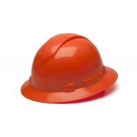 Hi Vis Orange Full Brim Style 4-Point Standard Ratchet