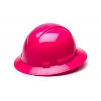 Hi-Vis Pink Full Brim Style 4-Point Standard Ratchet