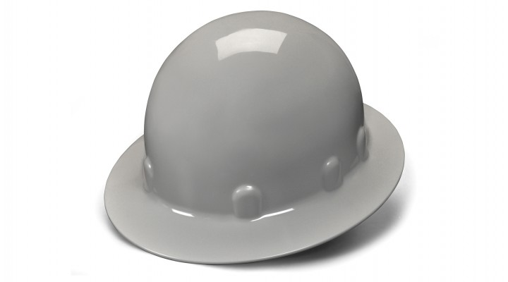 Gray Full Brim Style 4-Point Ratchet