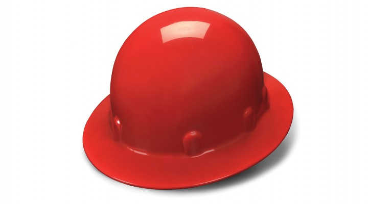 Red Full Brim Style 4-Point Ratchet