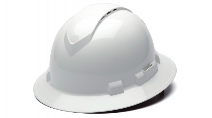 White Full Brim Style 4-Point Vented Ratchet