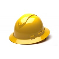 Yellow Full Brim Style 4-Point Vented Ratchet