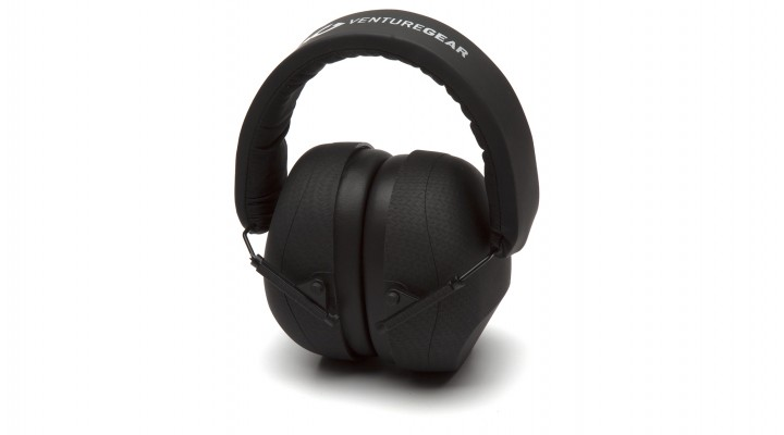 Graphite Pattern Earmuff – Clamshell