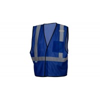 Royal Blue Mesh Vest - Non-ANSI