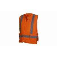 Type R - Class 2 Non FR Self Extinguishing Hi Vis Orange Safety Vest