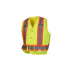 Type R - Class 2 Non FR Self Extinguishing Hi-Vis Lime Safety Vest