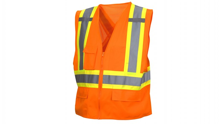 Type R - Class 2 Hi Vis Orange Safety Vest
