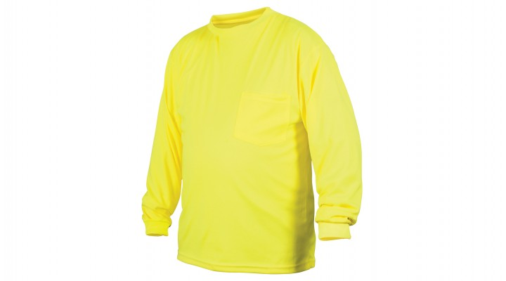 Non-Rated Hi-Vis Lime Long Sleeve T-Shirt