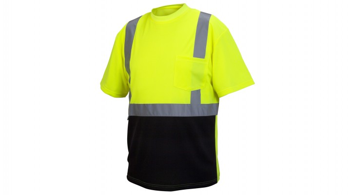 Type R - Class 2 Hi-Vis Lime T-Shirt with Black Bottom