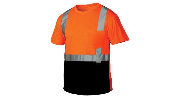 Type R - Class 2 Hi-Vis Orange T-Shirt with Black Bottom