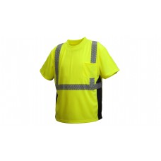 Type R - Class 2 Hi-Vis Lime T-Shirt with Broken Heat Sealed Tape
