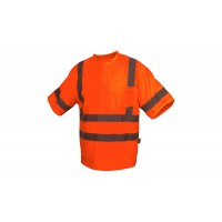 Type R - Class 3 Hi-Vis Orange T-Shirt with Heat Sealed Tape