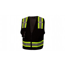 Ansi Type 0 - Class 1 Not FR Hi-Vis Black Reflective Safety Vest