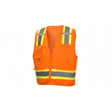 Type R - Class 2 Non FR Self Extinguishing Hi-Vis Orange Safety Vest