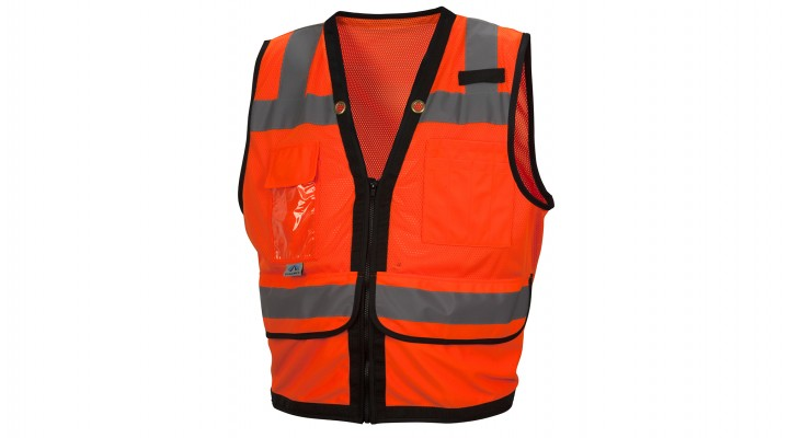 Type R - Class 2 Hi-Vis Orange Safety Vest