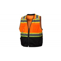 Type R - Class 2 Hi-Vis Orange Safety Vest with Black Bottom