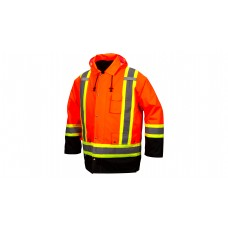 7-in-1 Hi-Vis Orange Parkas