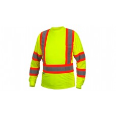 Hi-Vis Lime Long Sleeve Moisture Wicking T-Shirts