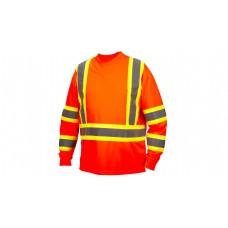 Hi-Vis Orange Long Sleeve Moisture Wicking T-Shirts