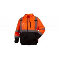 Type R - Class 3 Hi-Vis Orange Premium Zipper Sweatshirt