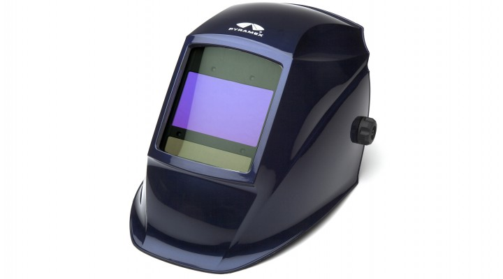 Metallic Blue Auto Darkening Helmet with Digital Controls