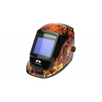 Flame Decorated Auto Darkening Helmet